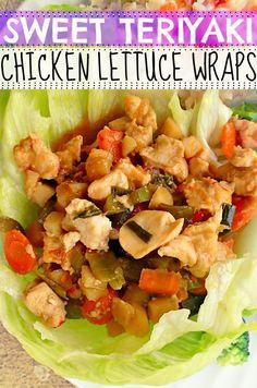 Sweet Teriyaki Chicken Lettuce Wraps