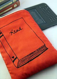 E Reader Case for Nook or Kindle RED. $20.00, via Etsy.