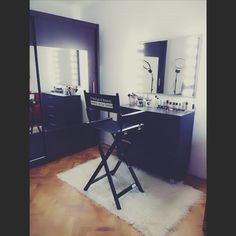 One more time 70x90cm modern design makeup mirror with LED light bulbs and wenge stain wooden frame. http://zapproject.pl/