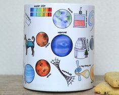 Space Alphabet Mug Space Mug gift for geek by BeckaGriffin