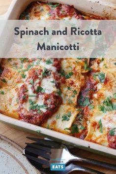 Classic Italian-American ricotta and spinach manicotti, made with a few little tricks.