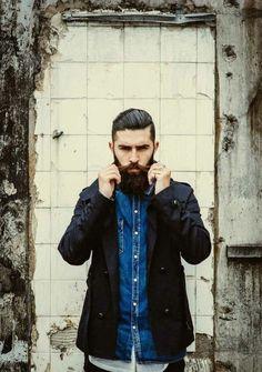 denim shirt + layers