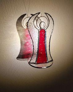Weihnachtsdeko - Weihnachtsdeko Tiffany Fensterbild Engel - ein Designerstück von Die-Glasscherbe-Melanie-Bujacz bei DaWanda