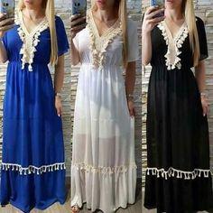 Stylish Dresses For Girls, Modest Dresses, Casual Dresses, Hijab Fashion, Fashion Dresses, Muslim Fashion, Monsoon Fashion, Salwar Neck Designs, Kaftan Style