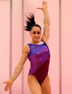 Jordyn Wieber during a pre-Olympics training session. I love this leotard.