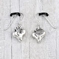 Baby heart earrings   #earrings #jewelry #cowgirljewelry   http://www.islandcowgirl.com/