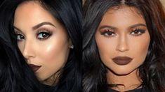 Get Kylie& bronzey makeup look! Kylie has been rocking her new Kylie Lip ki. :separator:Get Kylie& bronzey makeup look! Kylie has been rocking her new Kylie Lip ki. Emo Makeup, Kiss Makeup, Hair Makeup, Beauty Makeup, Brown Liquid Lipstick, Fall Lipstick, Kylie Jenner Lipstick, Kylie Lips, Beauty Tutorials