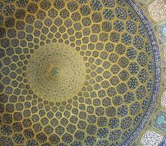 dome, lotfollah mosque, isfahan oct. 2007, Photographer  - SEIER+SEIER http://www.flickr.com/photos/seier/2034873075/in/set-72157600203945523    sheikh lotfollah (or lutfallah or lotf allah) mosque, isfahan, iran, 1602-1619.  architect: muhammad reza ibn ustad hosein banna isfahani.