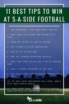 11 A Side Football Tips - image 7