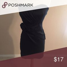 Strapless cocktail Little Black Dress Super sexy, worn once! A little hard to do the draping and details justice in pics so please message me if you have any questions. #30for30bucks 💡 Dresses Mini