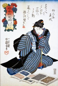 textile and people in Edo period.