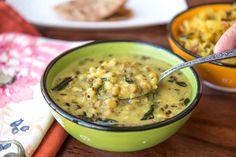 Gujarati Khatta Mag/ Moong Recipe (Green Mung Beans in Buttermilk Curry)