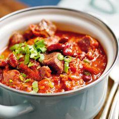 Bohnen-Rindfleisch-Chili