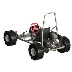 The Fun Kart III is a full blown ATV kart with off road tyres, tough roll bar and hydraulic disc brake. Teach the kids to drive with a kit or build it yourself. Fun Kart, Diy Go Kart, Go Kart Designs, Go Kart Plans, Off Road Tires, T Bucket, Chain Drive, Torque Converter, Accessories