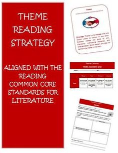 Common Core Reading Strategy Theme Activities and Rubric