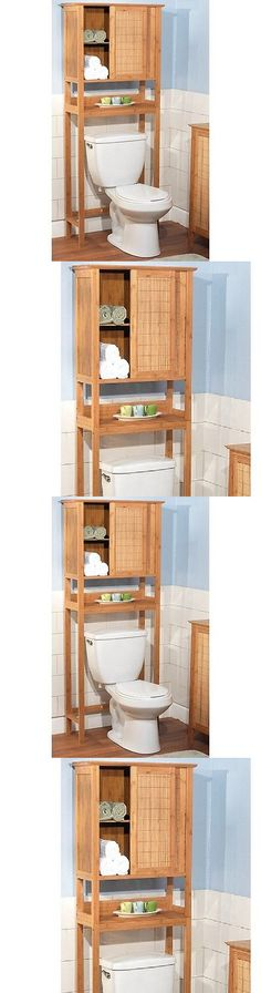 Bath Caddies and Storage 54075: Over Toilet Storage Rack Bathroom Cabinet Space Saver Shelves Organizer Bamboo -> BUY IT NOW ONLY: $150.77 on eBay!