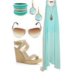 Is it summer yet? Totally my style! And one of my fav colors!!  Lets go