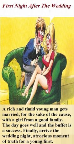 First Night After The Wedding (Funny Story) Adult Dirty Jokes, Funny Jokes For Adults, Adult Humour, Funny Cartoons, Funny Comics, Funny Humor, Funny Stuff, New Year Jokes, Funny Marriage Jokes