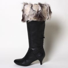 Gray Foxtail Faux Fur Boot Toppers from Top of the Boot. www.mytopoftheboot.com