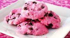 pink chocolate chip cookies | How to make delicious PINK chocolate chip cookies to support National ...