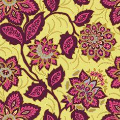 VOILE Joel Dewberry Ornate Floral in Garnet One by ModernQuilter, $9.00