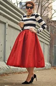 Styles We LOVE: Middi Skirts. Say no more the perfect skirt for any leg type..We love Middis with a little bit of flare.