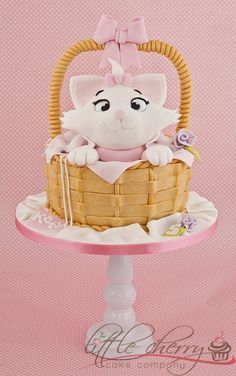 Kitty cat cake aristocrats tiered cake