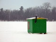 Winter is my fav time of the year in Maine… Snowmobiling on the frozen lake and seeing the ice shanty's everywhere :-)
