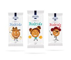 Personified Cookie Packaging cookies for kids - Biscato's BisKids cookies for kids were specifically developed to provide a healthier snack option for parents. Sometimes it can be a challen. Kids Packaging, Clever Packaging, Cookie Packaging, Food Packaging Design, Brand Packaging, Product Packaging, Healthy Snack Options, Healthy Snacks For Kids, Biscuits Packaging