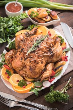 Citrus and Herb Butter Roasted Turkey by Comfort of Cooking Best Turkey Recipe, Turkey Recipes, Chicken Recipes, Thanksgiving Recipes, Holiday Recipes, Thanksgiving Turkey, Leftover Turkey Soup, Herb Roasted Turkey, Turkey Tenderloin