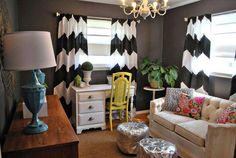 this picture makes me happy. I think it is the curtains but i'm sorta over chevron.