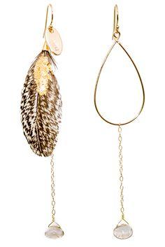 LK2834or, or plume mouchetée plaquée or, quartz rutilé or, 140€