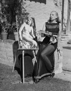 Art Deco artist Tamara de Lempicka aka Maria Górska (May 16 1898 – March 18 1980, Polish)  #TamaradeLempicka #art #inspiration