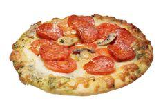 Pepperoni, Mushroom, Tomato Pizza