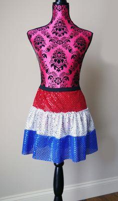 4th of July Skirt, Fourth of July Skirt, Sparkle Skirt, Running Skirt, USA Skirt, Red White & Blue Skirt, Race Tutu, American Flag Tutu