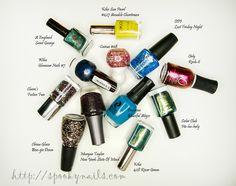 Lakierowi ulubieńcy 2013 / My favourite nail polishes 2013 - random