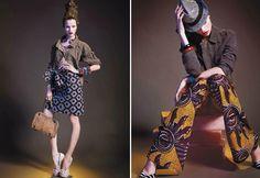 Title: Belleville-bamako  Magazine: L'Officiel February 2012  Model: Egle Tvirbutaite  Photographer: Marcin Tyszka  Stylist: Alexandra Elbim