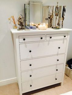 Ikea Hemnes Chest Of 6 Drawers Smooth Running With Pull Out Stop Closet Pinterest And Bedrooms
