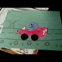 Transportation craft for preschoolers - use hand and make a sail boat with it