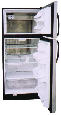 crystal cold stainless steel propane fridge