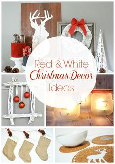 Red and White Christmas Decorations via @Taryn {Design, Dining + Diapers}