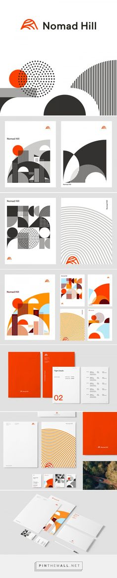 Brand New: New Logo and Identity for Nomad Hill by Andrew Littmann… – a grouped images picture – Pin Them All Source by irbarbu - Brand Identity Design, Graphic Design Branding, Typography Design, Packaging Design, Graphisches Design, Book Design, Creative Design, Amsterdam Museum, Communication Design