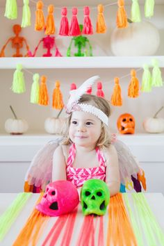 Neon Halloween Ideas | Photos by Jenna Elliott | 100 Layer Cakelet