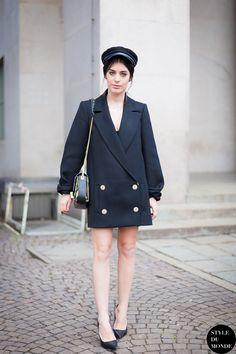 Aida of Dulceida, fashion blogger, wearing Roberto Cavalli after Costume National Fashion Show.