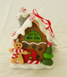 New Kurt Adler Gingerbread Ornament With Three Way Color Changing LED Light