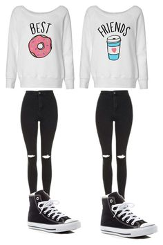 """""""Bff"""" by foreveryoug on Polyvore featuring Topshop and Converse"""