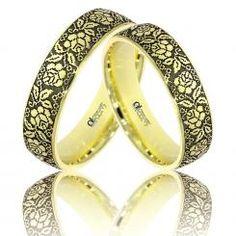 Verighete ATCOM Lux personalizate OLGUTA aur galben Couple Rings, Bangles, Bracelets, Arrow Keys, Close Image, Jewlery, Wedding Rings, Engagement Rings, Lady