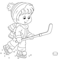 Зима Sports Coloring Pages, Coloring Sheets For Kids, Colouring Pages, Coloring Books, Christmas Activities For Kids, Christmas Decorations To Make, Winter Pictures, Digi Stamps, Animals For Kids