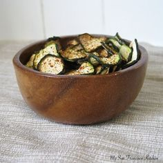 Healthy zucchini chips!
