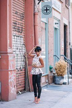 Lace & Leather Fashion Street for Fashion Week Kyrzayda Rodriguez Look Fashion, Autumn Fashion, Fashion Outfits, Womens Fashion, Street Fashion, Fall Outfits, Love Her Style, Up Girl, Leather Fashion